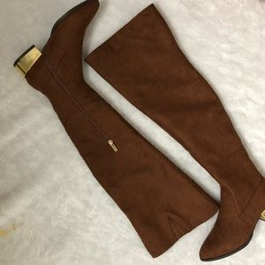 Forever21 Tan Thigh High Boots size 7